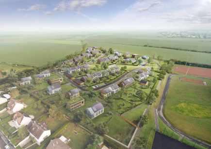 Flint immobilier lance un co lotissement 100 bbc for Espace vert lotissement