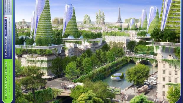 Paris voit la ville en vert pour 2050 construction cayola for Les espaces verts en ville