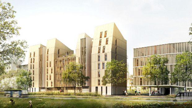 Bois un immeuble grande hauteur strasbourg for Immeuble bureaux structure bois