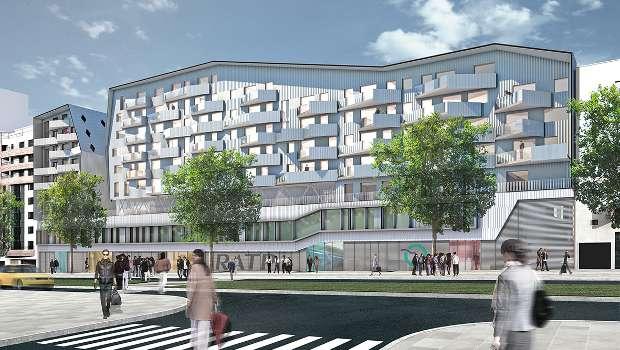 Eiffage fait na tre des logements porte d 39 orl ans construction cayola - Parking porte d orleans paris ...