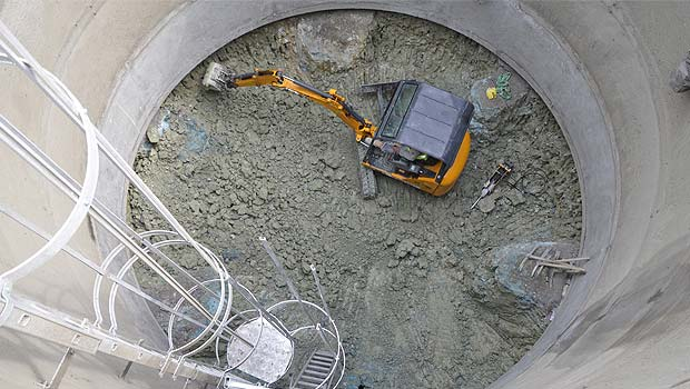 Un puits test pour la ligne 11 du m tro parisien for Parisien construction