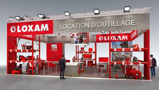 loxam fait son show sur batimat construction cayola. Black Bedroom Furniture Sets. Home Design Ideas