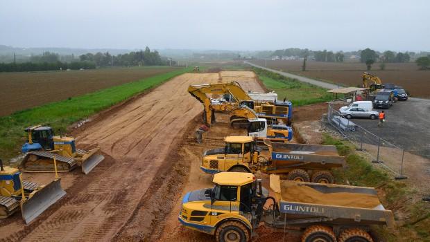 Rn 164 les travaux de terrassement vont d buter for Travaux de terrassement prix