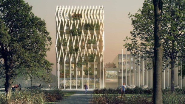 Nice accueille l 39 immeuble de bureaux en bois le plus haut for Immeuble bureaux structure bois