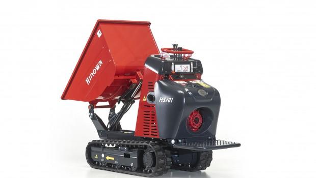 hinowa sort un nouveau mini dumper avec moteur essence construction cayola. Black Bedroom Furniture Sets. Home Design Ideas