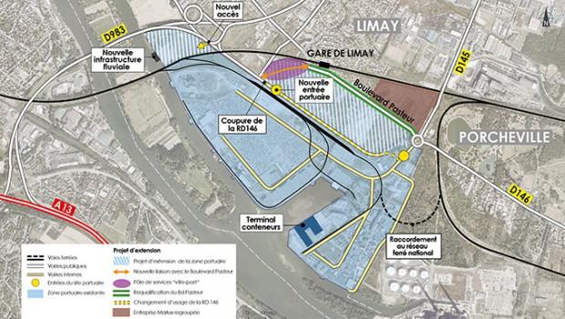 Le projet d 39 extension du port de limay porcheville en for Projet extension