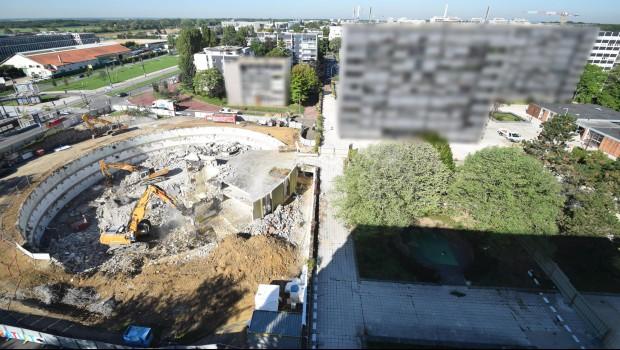 Velizy-Villacoublay : 2 ha de dalle démolis à la ZAC Louvois - Construction Cayola