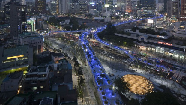 Ex-highway transformed into public pedestrian space in South Korea