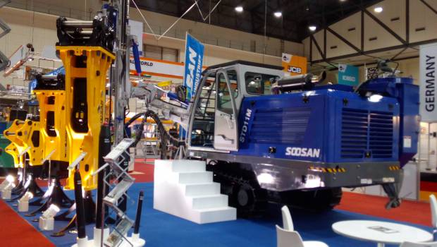 New Soosan hydraulic drill on display at Intermat Asean
