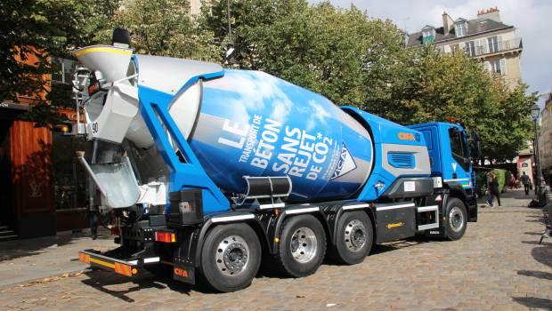 Vicat lance un camion coresponsable pour le transport du - Camion toupie beton ...