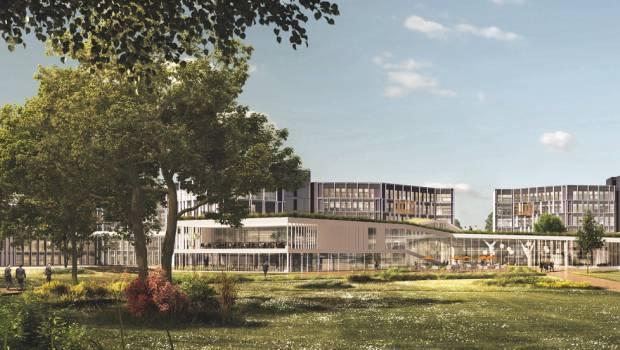 Le si ge du cr dit agricole centre est se transforme for Architecte batiment agricole