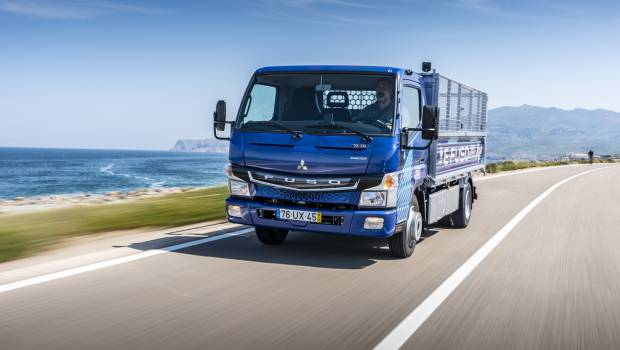 Le Fuso eCanter électrique à Technotrans