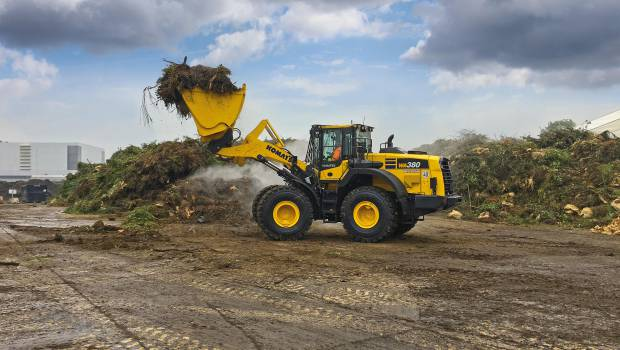 Les chargeuses Komatsu s'adaptent au recyclage
