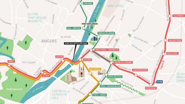 Carte Tram Bordeaux Demandeur Demploi.Angers Metropole Pose Des Premiers Rails De La Ligne A Modifiee