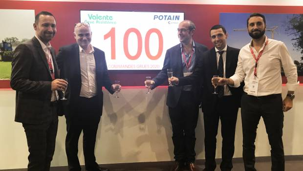 100 grues Potain pour Valente