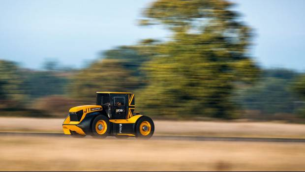 Le JCB Fastrac dans le Guinness World Records
